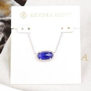 Kendra Scott Elisa Necklace cobalt blue silver